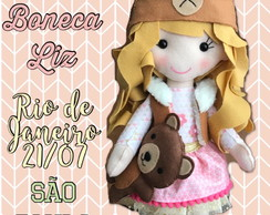 Workshop presencial Boneca Liz por Marcella Cruz