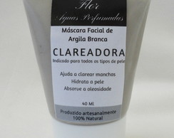 Máscara Facial de Argila CLAREADORA - Vegana - 100% NATURAL