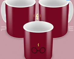 Caneca Harry Potter cartoon minimalista