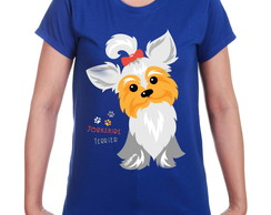 Camiseta Baby Look Yorkshire Terrier