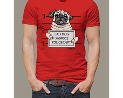 Camiseta Pug Bad Dog