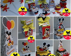 100 itens - Kit Festa Lembrancinhas Mickey Mouse