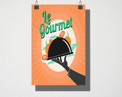 Poster A4 Le gourmet