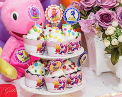 Wrappers de Capcake personalizado no tema Backyardgans