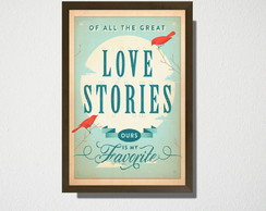 Quadro A3 Love Stories