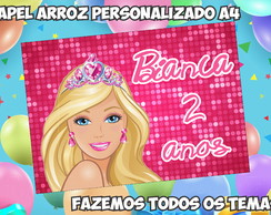 Papel Arroz Barbie A4