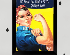 Quadro Pin-up Feminist