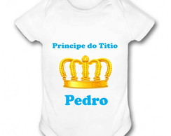 Body Infantil Personalizado - Príncipe do Titio