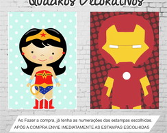 Quadro Marvel Decorativo Infantil Canvas 30x22