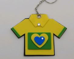 Chaveiro Camisa copa do mundo Brasil bb451cf8fc8f3