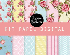 Kit Papel Digital Floral