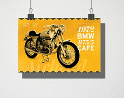 Poster A4 1972 BMW