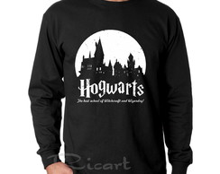 Camiseta Manga Longa Harry Potter Hogwarts