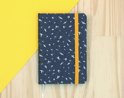 Sketchbook Mini - Aves jeans escura