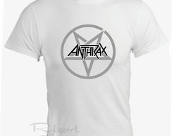 Camiseta Anthrax Bandas De Rock