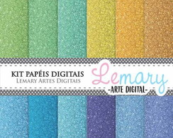 Kit Papeis Digitais Scrapbook Glitter REF002