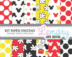 Kit Papeis Digitais Scrapbook Mickey REF001