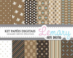 Kit Papeis Digitais Scrapbook Vintage REF002