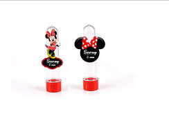 Tubete 13cm com aplique 3D - Minnie