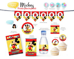 Kit Festa Digital Mickey