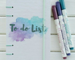 Caderno To do List Aquarela - A6