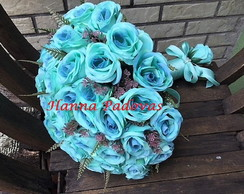 BUQUE DE ROSAS AZUL TIFFANY