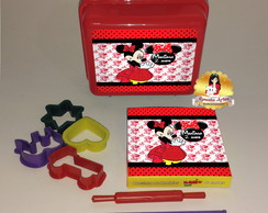 Kit massinha na maleta Minnie vermelha