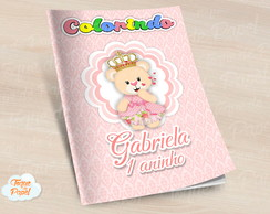 Revista colorir Princesa urso
