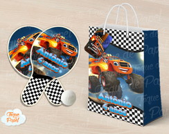Kit Raquete personalizada Blaze and the monster machines