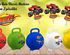 Maleta Bola Blaze Monster Machine com 3 pirulitos