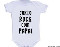 Body Curto Rock com o Papai