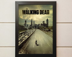 Poster Com Moldura The Walking Dead 45x35 cm