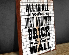 Quadro Tela 30x40 Songs Another Brick In The Wall