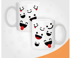 Caneca Smiles and Tongues