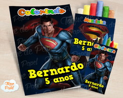 Kit colorir giz massinha Super Man