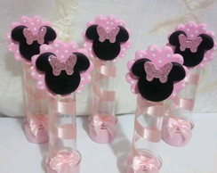Lembrancinhas Minnie Rosa Biscuit no Tubete