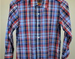 5307943bc5 ... Camisa xadrez vermelha e azul (cam014)