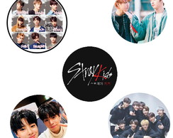 Kit de Bottons do grupo Stray Kids