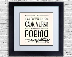 Quadro decorativo: Poema sobre acreditar