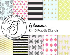 KIT PAPEL DIGITAL - GLAMOUR