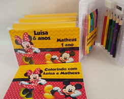 Estojo + Livrinho Colorir Minnie e Mickey