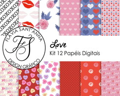 KIT PAPEL DIGITAL - LOVE