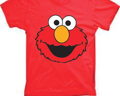 Camiseta infantil do Elmo Vila Sesamo