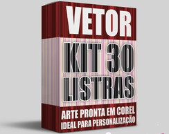 Vetor Kit 30 Listras Arte Digital Corel Draw