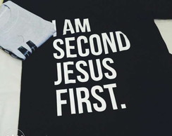 71a48fa4af ... Camiseta evangélica moda cristã estilo gospel Jesus primeiro