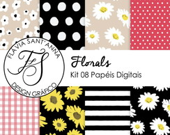 KIT PAPEL DIGITAL - FLORALS