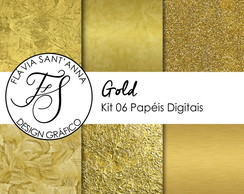KIT PAPEL DIGITAL - GOLD