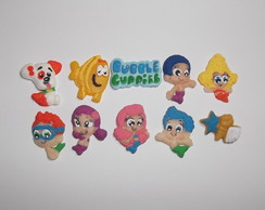 Mini apliques Bubble Guppies em biscuit