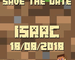 SAVE THE DATE DIGITAL MINECRAFT
