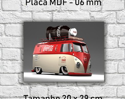 Placa Decorativa kombi coca cola